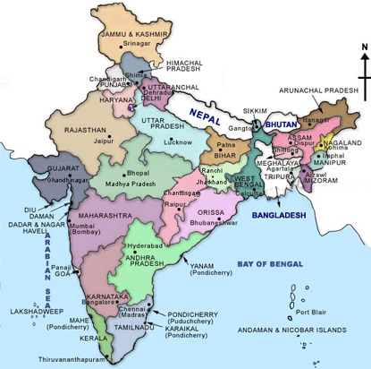 State Government of India India Map States